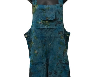 Tie dye Short overalls