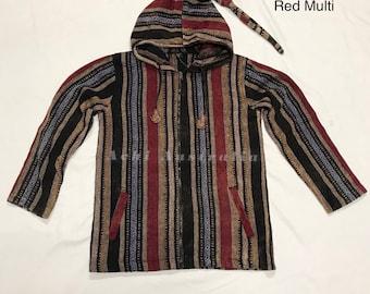 Hippie Cotton Stone washed zipper Jacket