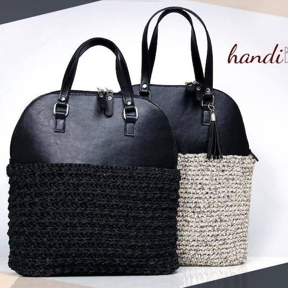 DIY Bowler Bag kit DIY crochet bag craft supplies kit faux  4343d8dfd9dd6