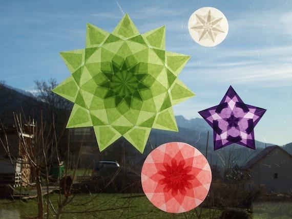 3 stars windows pedagogy Waldorf nature Table Celebration spring Easter Crocus flower color statement family Decoration