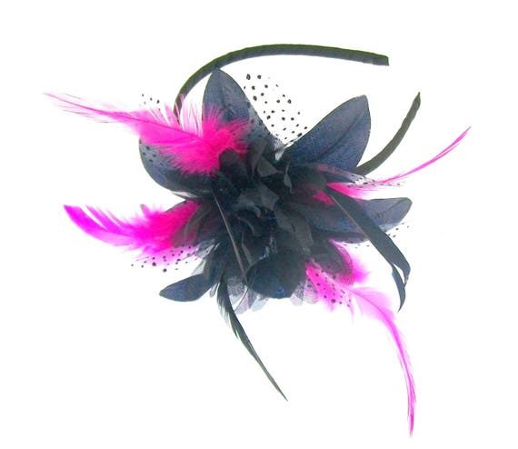 Navy and hot pink fascinator headband Special EventsRaces  7a82740fa09