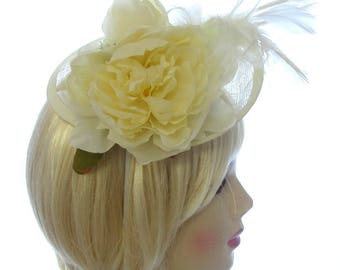 Large Cream Hat with headband,Ascot Races,Weddings,Ladies Day