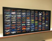 Display case cabinet for 1 64 diecast scale cars (hot wheels, matchbox) - 100BWB-7