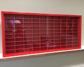 Display case cabinet for 1 64 diecast scale cars (hot wheels, matchbox) - 100NRR-8