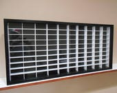 Display case cabinet for 1 64 diecast scale cars (hot wheels, matchbox) - 100NgBW-1