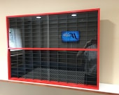Display case cabinet for 1 64 diecast scale cars (hot wheels, matchbox) 160NBBR-3
