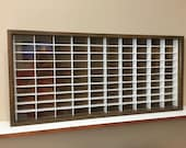 Display case cabinet for 1 64 diecast scale cars (hot wheels, matchbox) - 100NWW-9