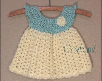 8f026a958 Newborn crochet dress pinafore dress infant dress soft baby