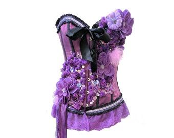 0b4adef358 Embellished Purple Bustier