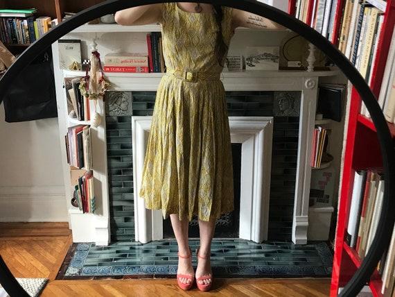 40s Green Sun Dress - image 1