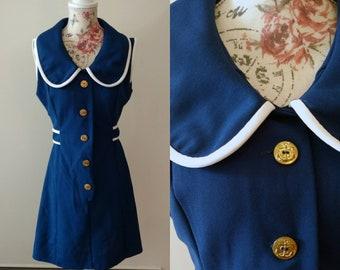 vintage 1960's sailor mod dress