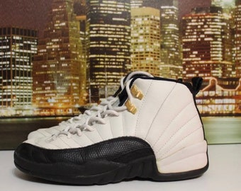 best website d7dd6 84104 Air Jordan Og Original 12 Taxi Black White 1997 Basketball Sneakers Size 6
