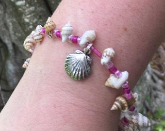 """Homade Jewelry,Bracelet,  """" Pink Charm Bracelet """" Jewelry"""
