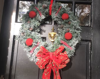 New original, Snowy Christmas Wreath, Christmas Items