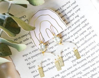 NEW - Clara earrings - Opalescent white