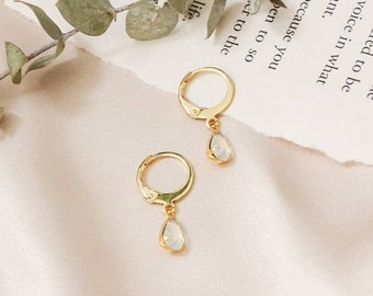 NEW - Olivia mini hoop earrings - Opal