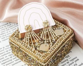 Julia stardust ear jacket earrings - Gold