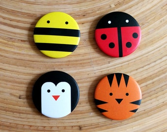 Cute magnets for your fridge / Cute magnets / bee Penguin Tiger Ladybird / Bee ladybug penguin tiger