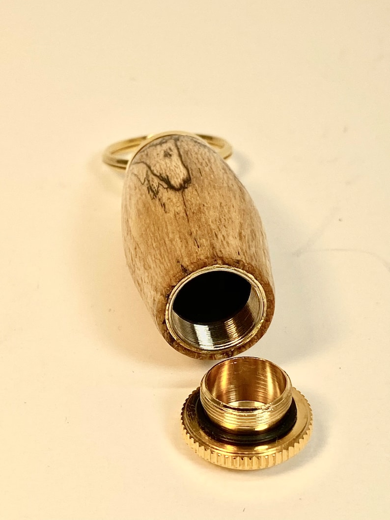 Spalted Maple Pill holder Key Chain Made in USA Father/'s Day Mother/'s Day Christmas Gift