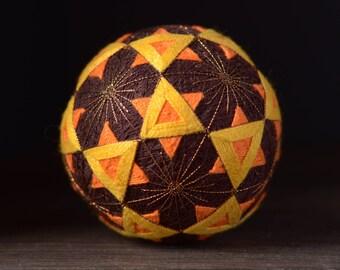 Temari ball Japanese traditional art Percussion musical instrument Shaker Home decor Unique gift Sphere Handmade ball Good Luck gift