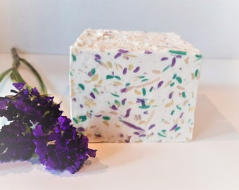 Banana Kiwi Confetti Moisturizing Body Soap, Artisan Soap, Handmade Soap, Rustic Soap, Gift, Christmas Gift