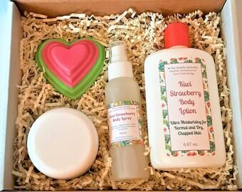 Kiwi Strawberry Custom Gift Box, Thinking of You Gift, Thank You Gift, Happy Birthday Gift, Get Well Gift, Christmas Gift Box