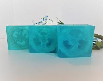 Moisturizing Exfoliating Loofah Body and Pedicure Soap, Artisan Soap, Handmade Soap, Rustic Soap, Gift, Christmas