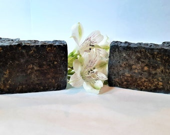Activated Charcoal Coffee Body Soap, Detox Soap, Rustic Soap, Exfoliating Soap