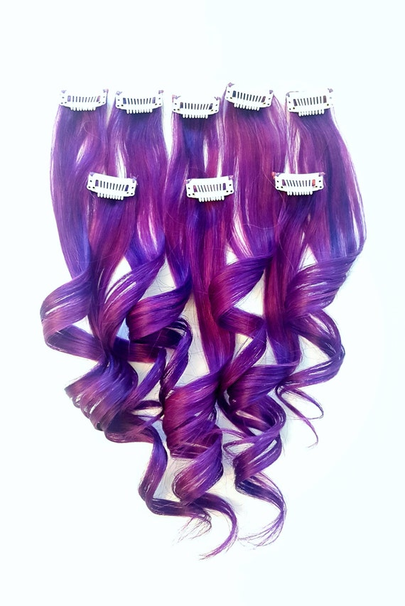 Amethyst Purple Unicorn Hair Extensions Mermaid Hair Etsy
