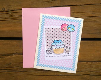 Birthday Card Cute Happy Bear For Daughter Girlfriend Mom Son Student Friend