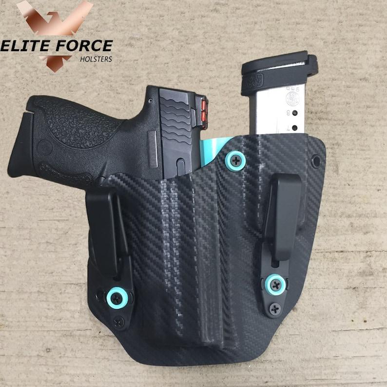Kydex Concealment IWB Gun Holster BLACK CARBON FIBER For Smith /& Wesson Handguns