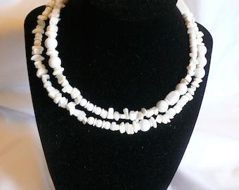 White Agate Choker