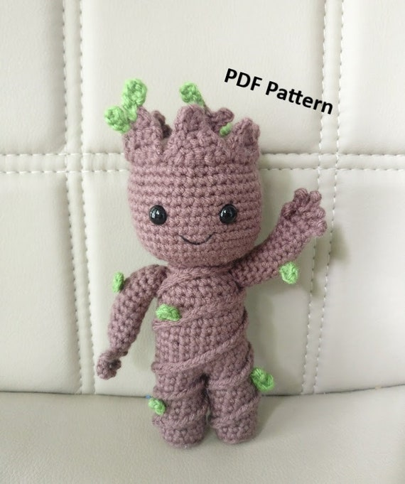 Pattern Baby Groot Vol2 Amigurumi Crochet Pattern Etsy