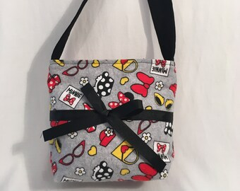 Childs Purse, Kids Purse, Girls Purse, Childs Minnie Mouse Fabric Purse, Girl's Bag, Childs Purse