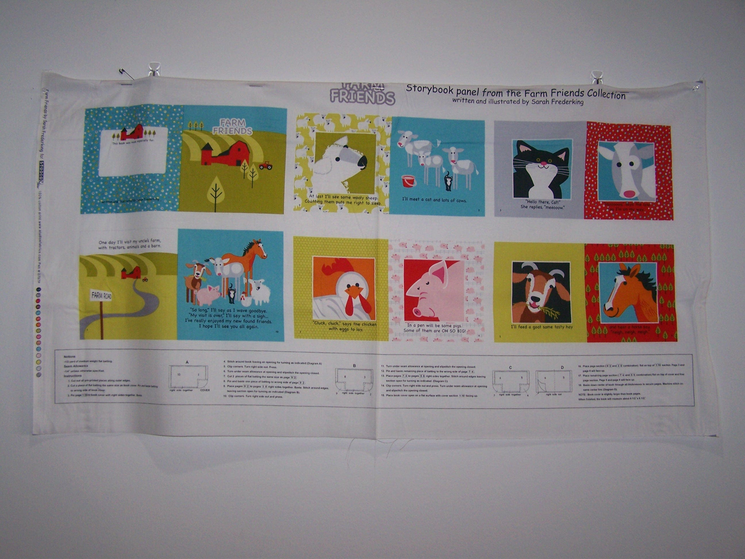 Farm Friends Soft Book Panel Etsy The Cluck Diagram Of A Chicken Zoom
