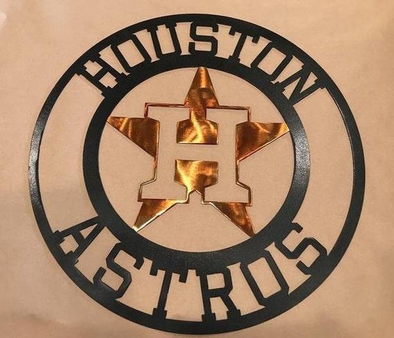 Houston Astros Metal Sign Houston Rockets Houston Texas