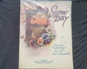 Vintage Sheet Music - Some Day - 1918