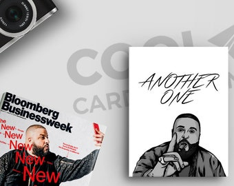 Another DJ Khaled Card, Funny Birthday Cards, for Boyfriends Hip Hop Gifts, Rap Lyrics, Pop Culture Card, Bless Up, by CoolCardCompany