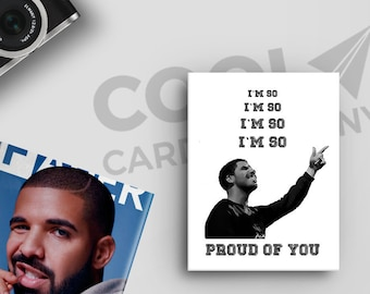 Drake, Graduation Card, Birthday card for boyfriend, Pop Culture Card, Hotline Bling, Congratulations Card, Hip Hop Gifts, CoolCardCompany