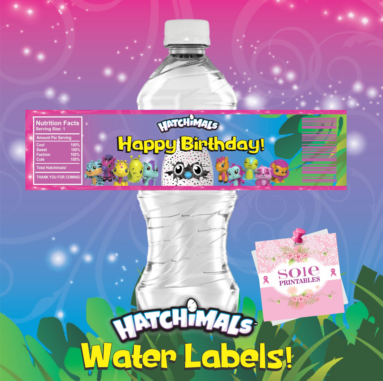 Hatchimals CollEGGtibles Water Labels Instant Download
