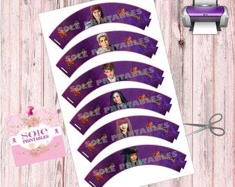 Descendants 2 Cupcakes Wrappers - - Legal Paper