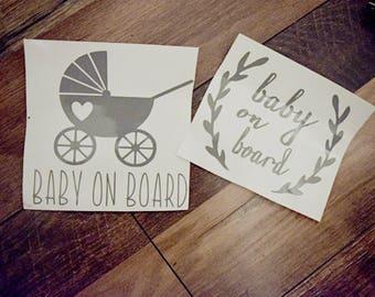 Baby on board car decal - baby on board sticker