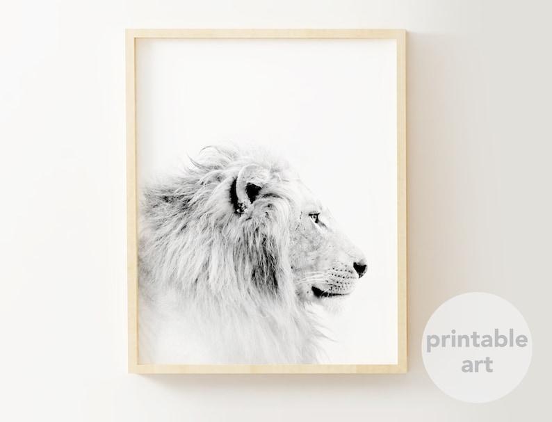 Fine Art Giclee Print Kenny the Lion Print Lion Portrait Fun Wall Art