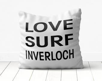 white beach cushion, inverloch cushion, inverloch pillow, white beach pillow, white beach cushion,