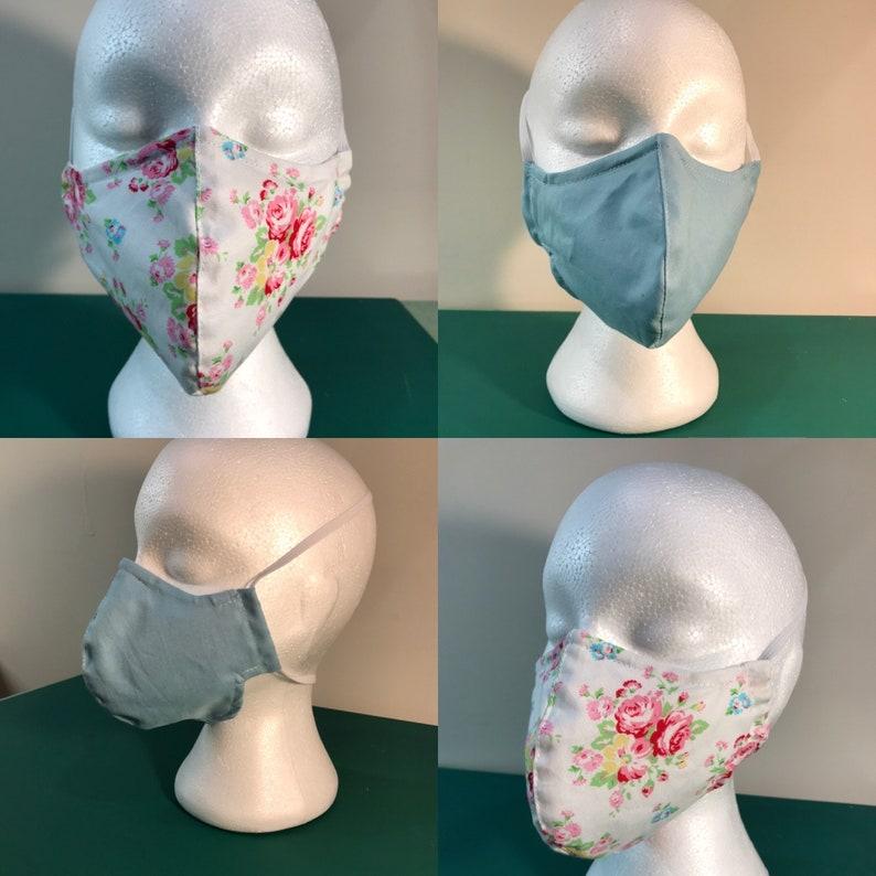 washable face mask  100% cotton reusable facemask cloth image 0