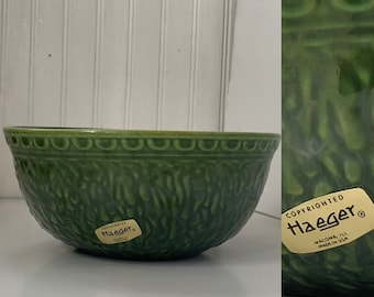 Vintage 60s Haeger Avocado Green Bowl Planter Vase Home Decor Wedding Gift Vases Mod Mid Century Indoor Plant Serving Dish