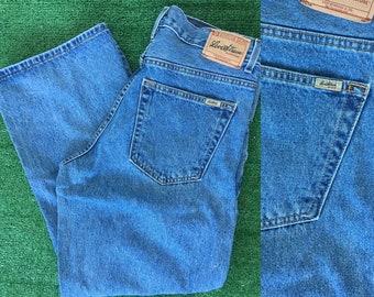 Vintage 90s Levis Signature Loose Fit Baggy Grunge Blue Jeans Denim Nineties 34 x 28 Size Boys 18 Husky