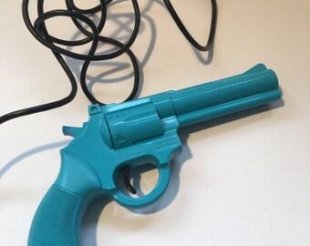 Vintage 90s Sega The Justifier Gun Blue 1993 Konami Video Games Gamer Gifts