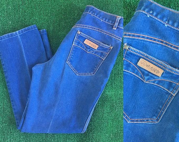 Vintage 80s Gitano Denim Blue Jeans High Waist Mom Jeans Size 5 6 Dark Wash 27 28 High Rise Western Eighties High Waisted