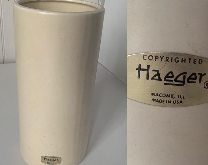Vintage 60s Haeger Tall Ivory Off White Vase Home Decor Wedding Gift Vases Mod Mid Century Indoor Plant Serving Dish Planter